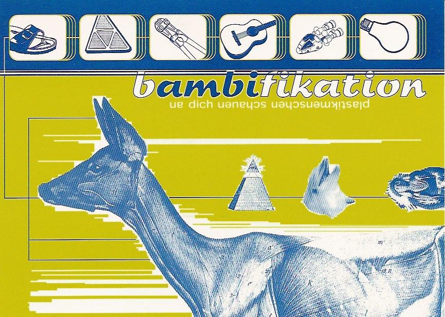 Bambi-Postkarte Dachsfarm
