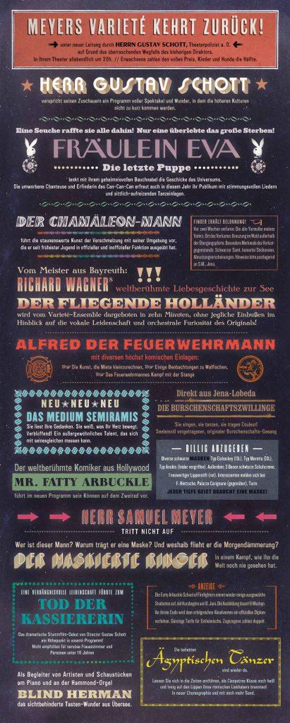 Leporello Thomas Rhyner Schwarzer Komet