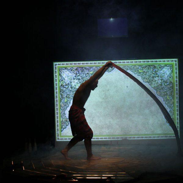 Farbod auf der Bühne FOTO Raoofeh Rostami
