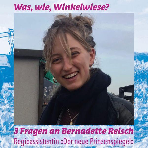 Bernadette beantwortet einen Fragebogen der WINKELWIESE
