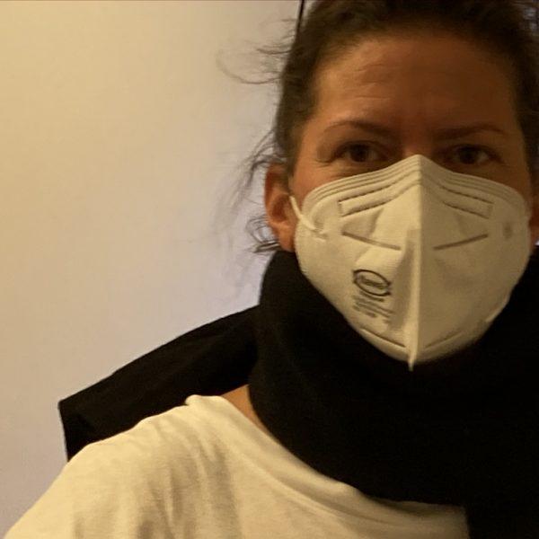 Judith Steinmann beim Dreh für FRAUEN IM LAUFGITTER