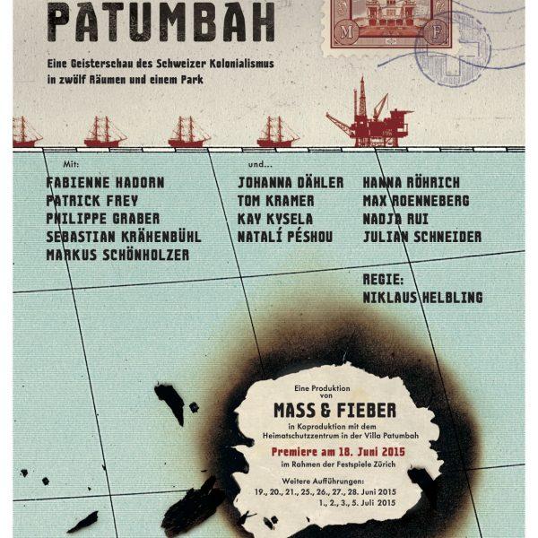 Rhyner Postkarte zu STURM IN PATUMBAH
